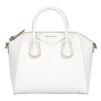 Givenchy Antigona Sugar Goatskin Leather Satchel Bag | White & SIlver Hardware | Small