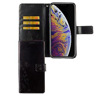 Apple iPhone XS Max Handy-Hülle Schutz-Tasche Cover Flip-Case Kartenfach Schwarz