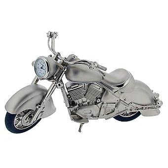 Geschenk-Produkte Harley Style Motorrad Mini Stempeluhr - Silber/Schwarz