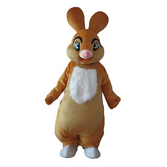 mascot Bunny Brown and white, soft and elegant SPOTSOUND