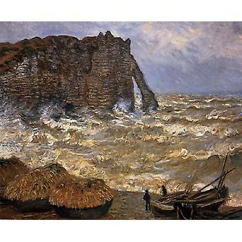 El acantilado de Etretat después de la tormenta, Claude Monet, 50x40cm