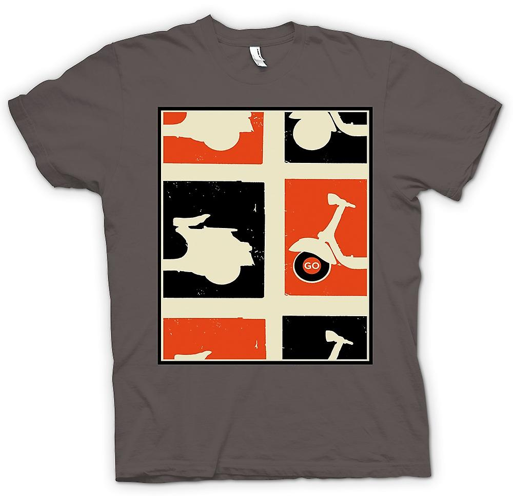 Womens T-shirt - Vespa Scooter - Pop-Art Poster gaan