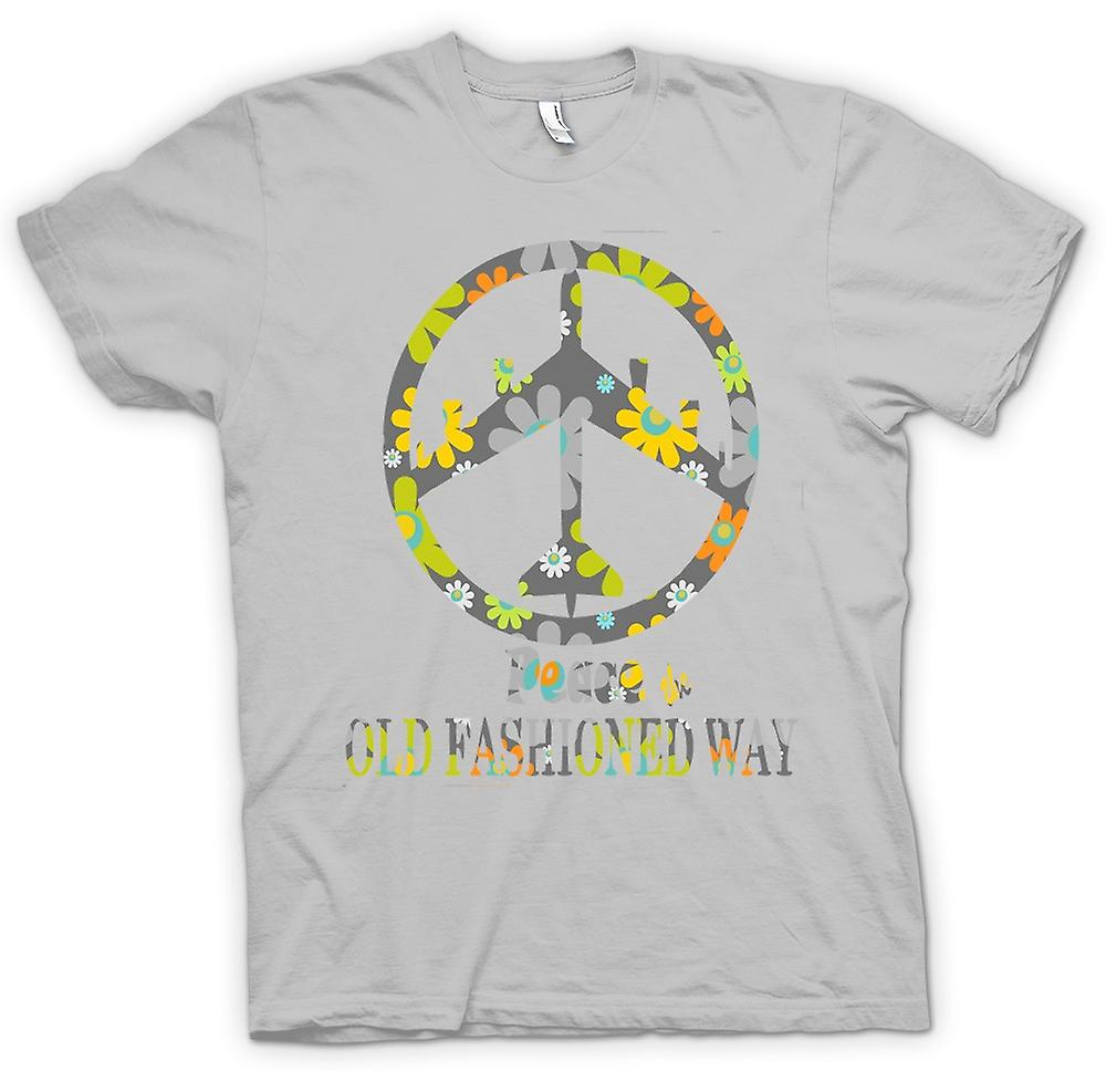 Hommes T-shirt - Peace The Old Fashioned Way - B52