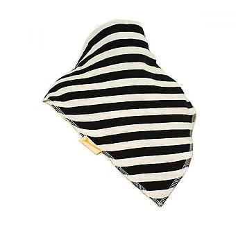 Blue & white marine stripes xl bandana bib