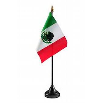 Mexico Table Flag with Stick and Base