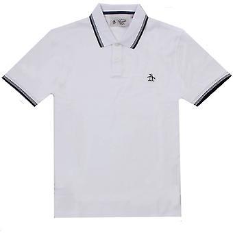 Original Penguin Sticker Pete Pique Polo Shirt - Bright White