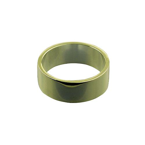 18ct Gold 8mm plain flat Wedding Ring Size Z