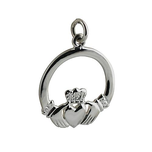 Silver 22mm Claddagh Pendant