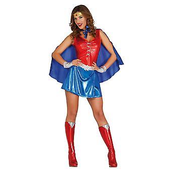 Damskie Red idealna niebieski Superhero kostium