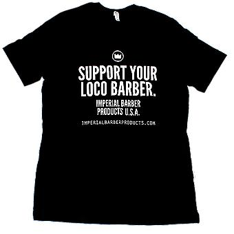 Imperial Pomade Support Your Barber T-Shirt Large