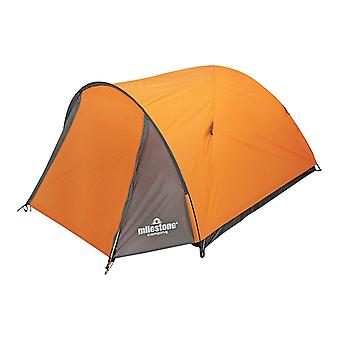 Milestone Camping 2 Man Super Dome Tent with Carry Storage Bag