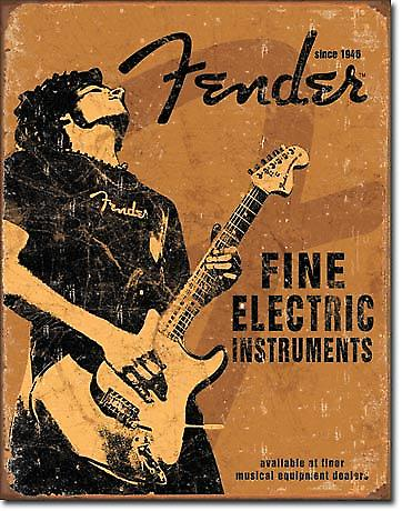 Fender Guitar Fine Electric Instruments metal wall sign (de pt)
