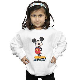 Disney Girls Mickey Mouse Retro Pose Sweatshirt