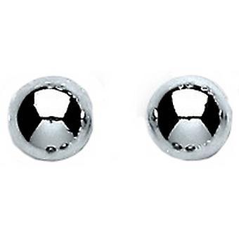 Bella 6mm Bead Stud Earrings - Silver
