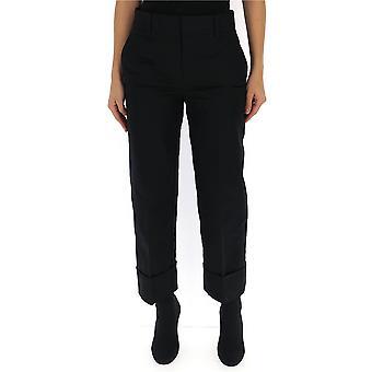 Pantalón de algodón negro de Prada