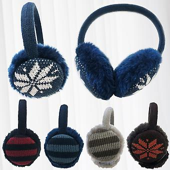 Women's Winter Warm Knitted Earmuffs Ear Warmers Muffs Women Men Earlap Cover