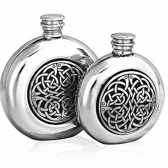 Celtic Design Pewter Hip Flask - 6oz