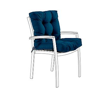 Gardenista® Water Resistant Moroccan Blue Tufted Two Part Chair Cushion