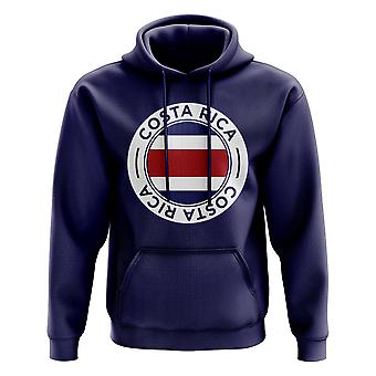 Costa Rica Football Badge Hoodie (Navy)