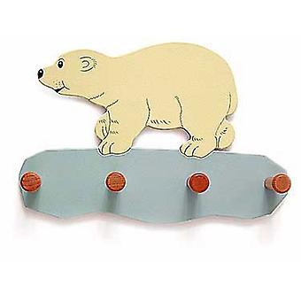 Weizenkorn Coat rack Polar Bear Björn Hout