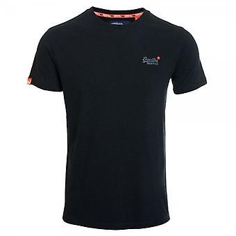 Superdry Orange Label Vintage Embroidery T-shirt Black