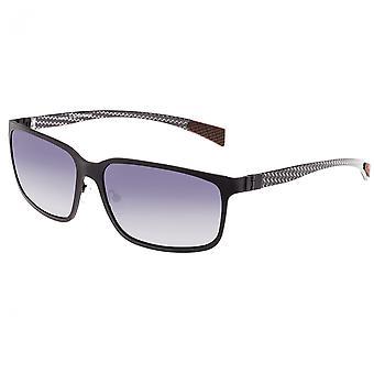 Breed Neptune Titanium and Carbon Fiber Polarized Sunglasses - Black/Black