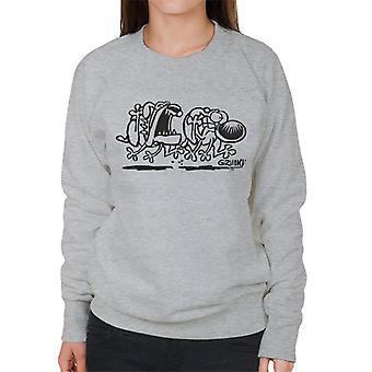 Grimmy Dog Chase naisten College pusero