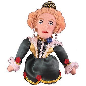 Finger Puppet - UPG - Queen Elizabeth Soft Doll Toys Gifts Licensed New 0519