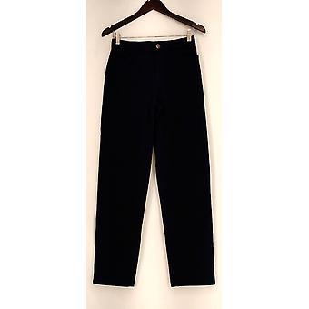 Isaac Mizrahi Live! Pants 24/7 Stretch Five Straight Leg Blue A258760