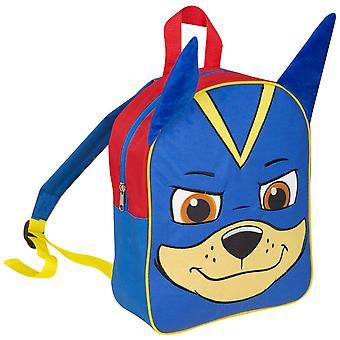 Paw Patrol Chase Junior Plush backpack bag 31x25x12 cm BLUE