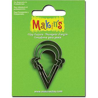 Makin's Clay Cutters 3 Pkg Ice Cream Cone M360 210