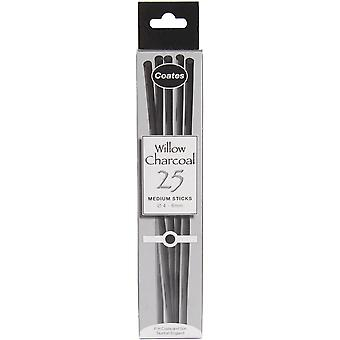 Ph Coates Willow Charcoal 25 Pkg Medium 5 6Mm G1002