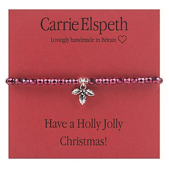 Carrie Elspeth Have a Holly Jolly Christmas! Sentiment Stretch Bracelet