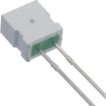 LED wired Green Rectangular 6.22 x 3.17 mm 6 mcd