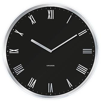 Black Roman Numeral Clock by Karlsson