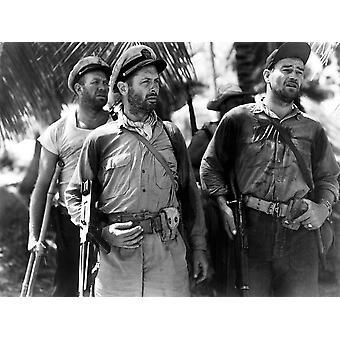 Sie waren entbehrlich Ward Bond Robert Montgomery John Wayne 1945 Fotodruck