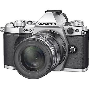 System camera Olympus E-M5 Mark II incl. M12-50 mm 16.1 MPix Silver Frost-resistant, Dustproof, Splashproof, Full HD Vi
