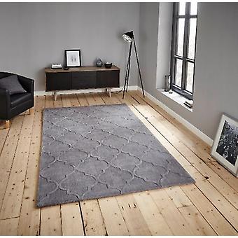 HK 8583 zilver rechthoek tapijten Plain/bijna gewoon tapijten