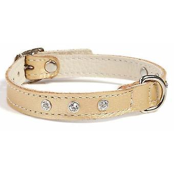 Doggy ting Fantasia læder hund krave guld 45cm