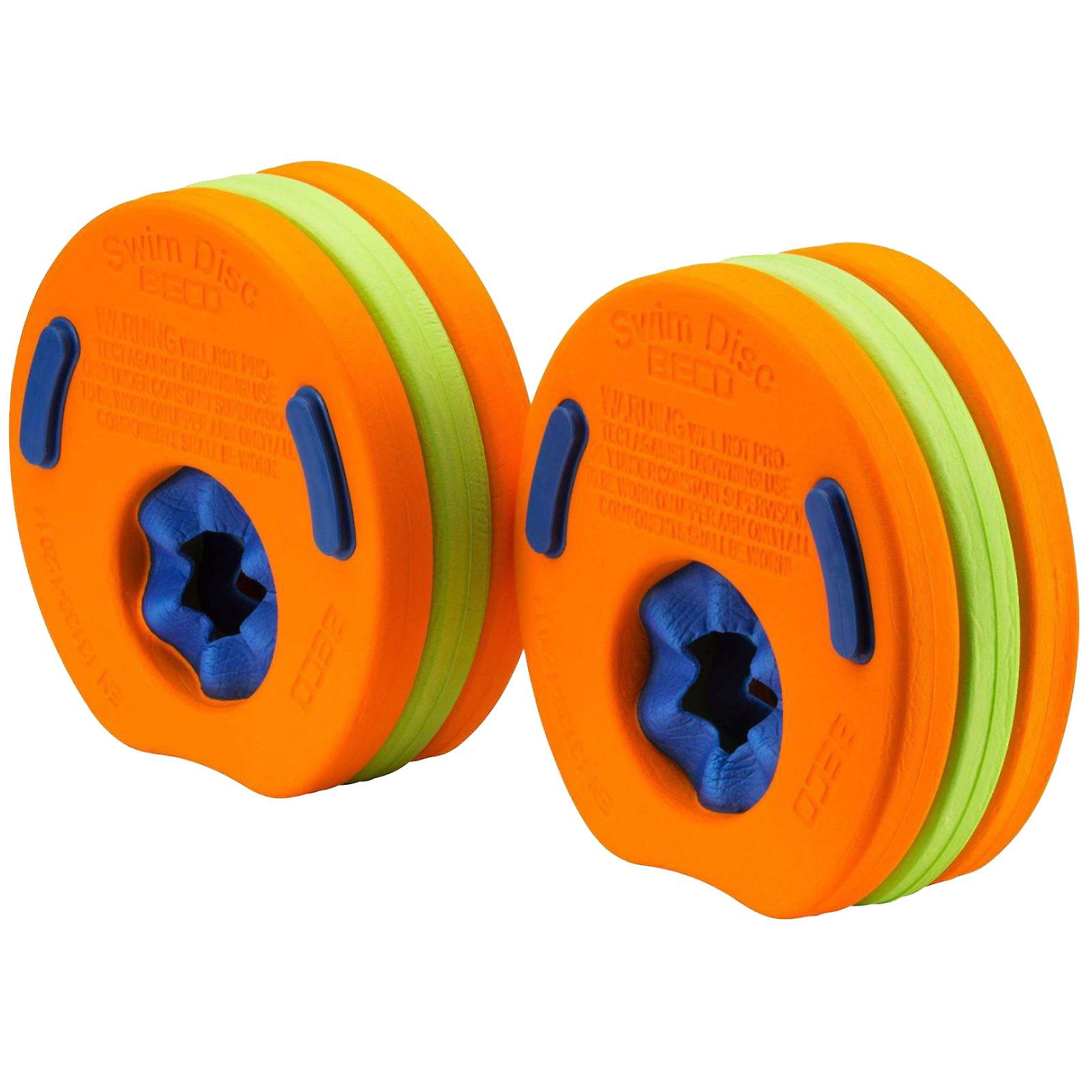 BECO Swim Discs Arm Bands for Children -Orange/Green