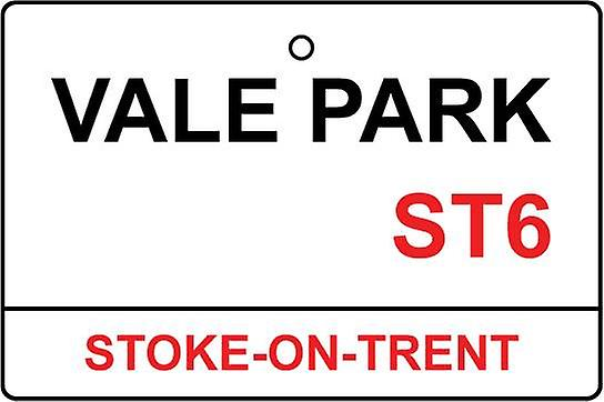 Port Vale / Vale Park Street Sign Car Air Freshener