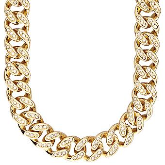 Iced Out Bling Hip Hop Panzerkette - ZIRKONIA 15mm gold