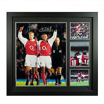 Arsenal Bergkamp & Henry Signed Framed Print