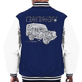 Haynes Workshop Manual Land Rover Camo Black mannen Varsity Jacket