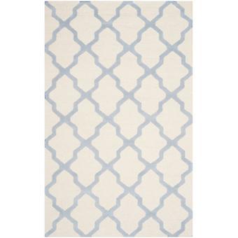 AVA moderne elfenben & blå uld tæppe - Safavieh