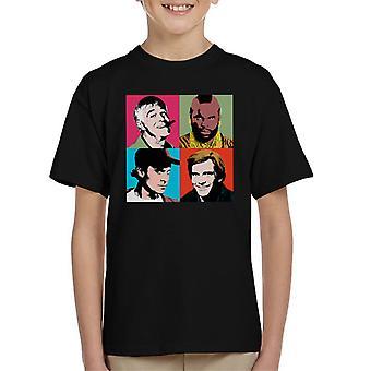 La squadra t-shirt di Pop arte bambino