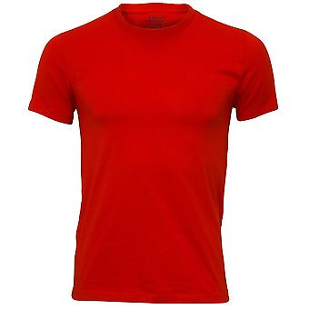 Polo Ralph Lauren Stretch Cotton Crew-Neck T-Shirt, Red With Black