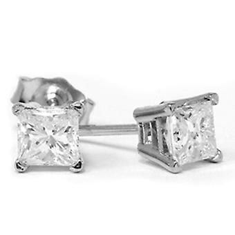 1 / 2ct diamant goujons 14K or blanc
