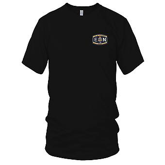 US Navy ENC Chief Engineman broderad Patch - Mens T Shirt
