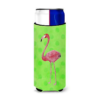 Flamingo Green Polkadot Michelob Ultra Hugger for slim cans